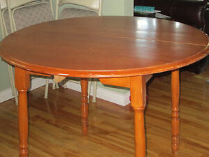 """36"""" diameter solid wooden dining table"""