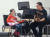 Music Lessons: Guitar, Drums, Cello, Bass.