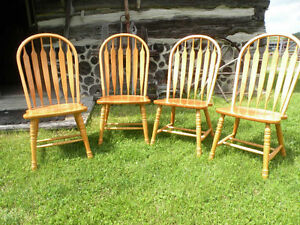 Large Oak Chairs - 4