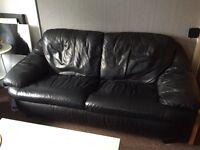 Sofa 3+2 black leather