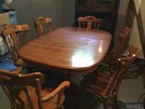 Solid Oak Table and Chairs for Sale