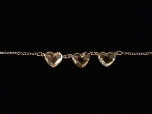 NEW 50% OFF SWAROVSKI CRYSTAL AND STERLING HEART BRACELET