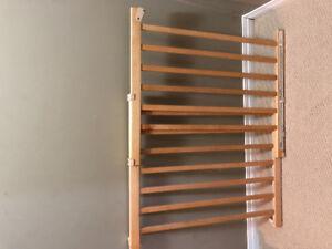 Stairs walk through Wood Baby Gate