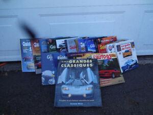 Série de livres Guide de l'auto de 1993 à 2004 et autres