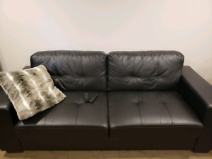 Vinyl Sofa and Chair Set