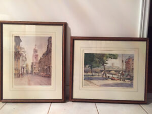 Numbered, signed prints of British painter Frank Shipsides