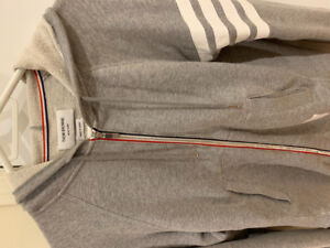 Thom browne grey zip-up size 2
