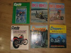 100's of 60's and 70's motorcycle & Car magazines