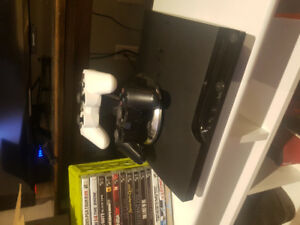 PS3, games, consoles, charger and stand