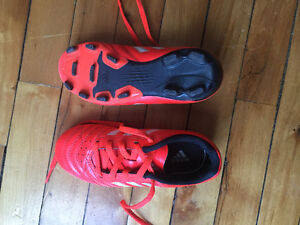 Size 12 adidas outdoor soccer shoes boy