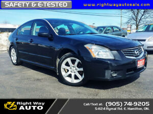 2007 Nissan Maxima 3.5 SL | NEW TIRES | SAFETY & E-TESTED