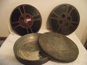 Vintage Movie Canisters and Reels with Film