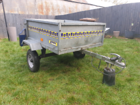Noval Portaflot Lightweight Tipping Trailer Galvanised With New Cover
