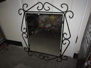 Wrought Iron Mirror For Sale