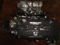 JDM HONDA CIVIC B16A 1.6L VTEC ENGINE, 5SPEED TRANSMISSION