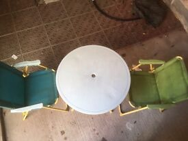Outdoor/ garden kids table and 2 chairs.