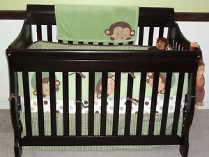 Monkey Jungle Theme Crib Bedding Set