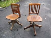 Antique Office Chairs.