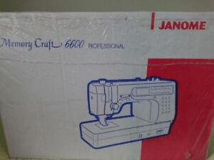 Janome Memory Craft 6600 Heavy Duty Professional Sewing Machine