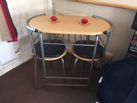 2 chair table