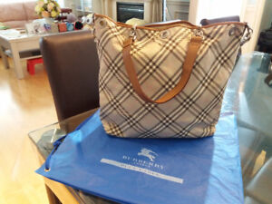 Burberry London Blue 2 sides Handbag