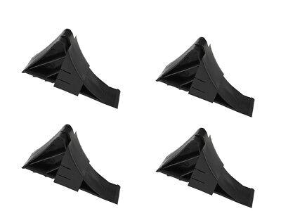 4 Stück Unterlegkeile mit Halter Schwarz Bremskeile Anhänger PKW Hemmschuhe - Schwarz Pat 4