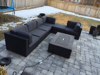 Outdoor sectional patio set