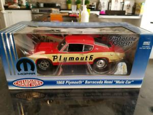 1:18 Diecast Highway Hwy 61 1968 Plymouth Barracuda Hemi Mule Ca