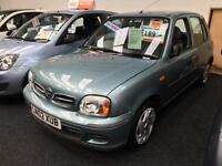 2002 NISSAN MICRA 1.0 S Auto From GBP1850+Retail package.