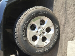 5 jeep and tire rims