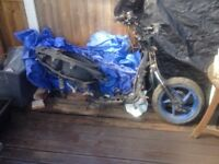 Aprilia sr 125cc 2001 frame, wheels & panels