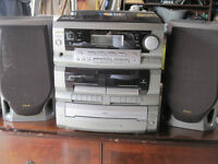 TEAC cd,cassette and record player
