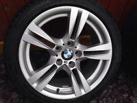"Bmw x1 18"" msport e84 alloy wheels f30 f31 f32??? Tyres 7mm goodyears staggered 8j 9j"
