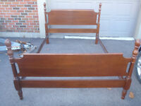 gibbard solid cherry double bedframe in exc cond