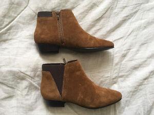 Brand New - Never Worn - Women's Aldo Chelsea Suede Boots - sz 8