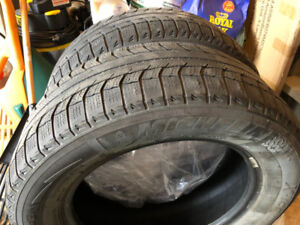 Two 215/60r16  Michelin X-ice winter tires