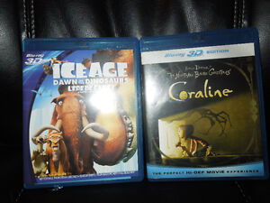Ice Age & Coraline  Blu-ray-only $8!