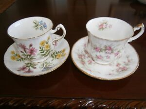 TWO BEAUTIFUL PARAGON CUP AND SAUCER SETS