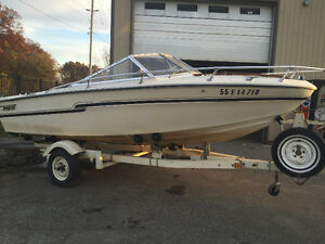 Tempest runabout 17ft with trailer sea ray bayliner bowrider London Ontario image 1