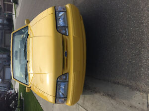 1993 Carnay Yellow Mustang Convertible 5.0LX