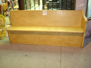 Reduced Price: 1880's original pine hand made church pews