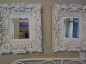 Ornate MIRRORS - white, carved