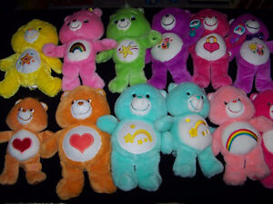 Care Bears plush toys vintage and new