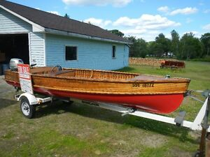 16 FT Cedar Strip Boat...with boat trailer..Excellent Condition.