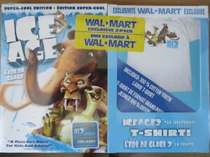 ICE AGE DVD ,TWO DISC + EXCLUSIVE T SHIRT NEW