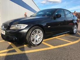 2009 BMW 3 SERIES 318d M Sport 4dr with Half Leather GBP30 road tax