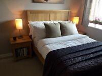 IKEA Herefoss Oak Double Bed Frame & Mattress (£369 new