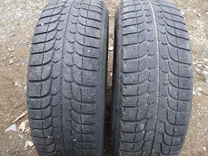 2 pneus hiver 215-60-16 michelin x-ice