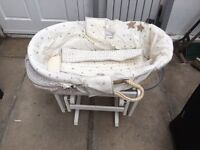 Baby misses basket with rocking base only £50
