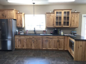 Hickory Cabinets with Granite tops for sale